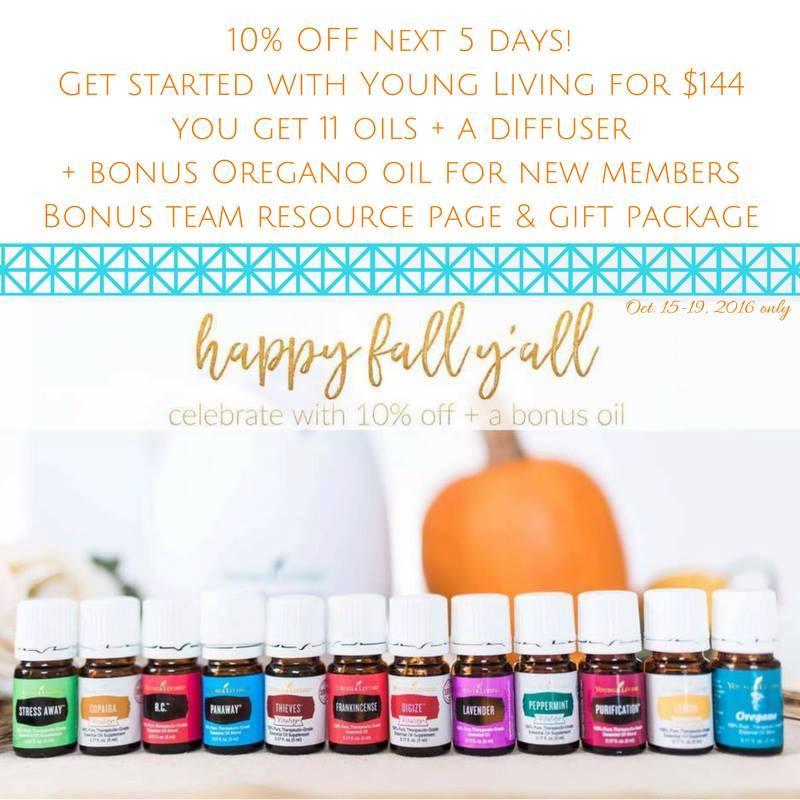 October 2016 Discount on Essential Oils Sale