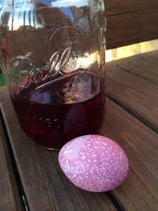 Dye Easter Eggs - Pink Egg from Canned Beet Juice
