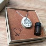 Silver Tree of Life Diffuser Necklace