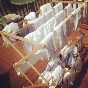 Cloth Diaper Sun Line Dry Outside