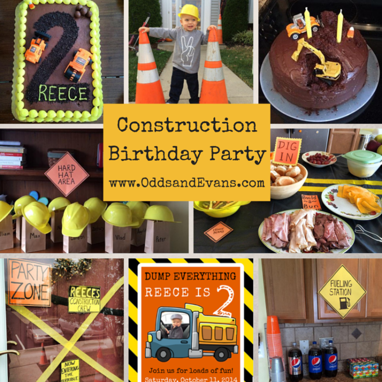 Construction Birthday Party Title