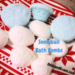 Snowball Bath Bombs Bath salt recipe kids fun