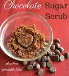 Homemade Chocolate Sugar Scrub plus free printable label