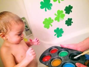 Lucky Shamrock Rainbow Bath Fun with Craft Foam