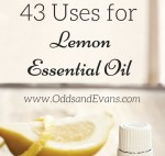 43 uses for lemon essential oil young living- www.OddsandEvans.com