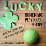 Calming Green Homemade Play Dough Recipe with natural and surprising ingredients like kale and essential oils