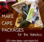 Make Homeless Care Packages Item Ideas Plus Printable List for Blessing Bags | OddsandEvans.com