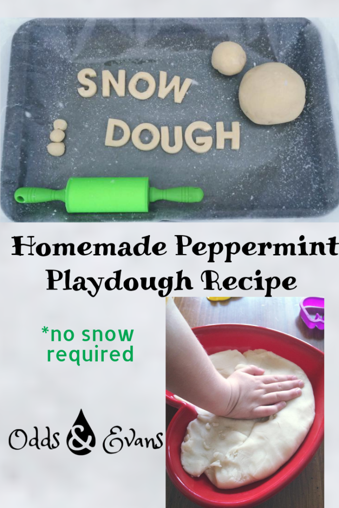 "No snow actually required to make this moisturizing and therapeutic homemade ""Snow Dough"" play dough recipe! Squish some snowballs without the cold, dry hands. 
