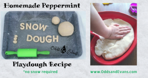 homemade peppermint snow dough play dough recipe