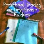 preschool tracing activity printable on dry-erase folders rainbox